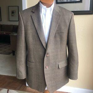 Ralph Lauren Lambswool 2 Button Tweed Coat 44R